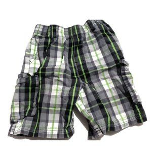 Other - green black white plaid shorts  size 4t